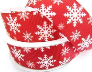 "10 yards Holiday Grosgrain 7/8"" Christmas Ribbon/Craft/Bow/Gift/Cute RYC-Select"
