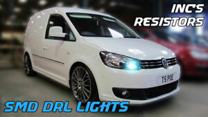 VW CADDY LED DRL P21W CANBUS ERROR FREE XENON WHITE DAY TIME RUNNING LIGHT CADDY