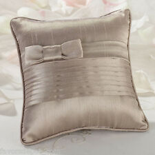 taupe or white wedding ring bearer pillow ringbearer pillow