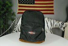 Vintage 90s Eastpak USA Made Black BackPack Book Bag Bag Hiking Camping