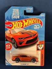 HOT WHEELS 2018 AUTO SHOW EXCLUSIVE CARD'18 CAMARO SS ORANGE CHEVY MUSCLE CAR