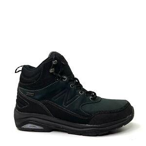 New Balance 1400 Mens MW1400TB Black Hiking Boots Waterproof Leather Size 7 (4E)