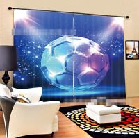 3D Football 689 Blockout Photo Curtain Printing Curtains Drapes Fabric Window UK