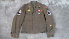 Old US WW2 era 1945 10th Army Dress Uniform Ike Jacket & Insignia size 34L USED