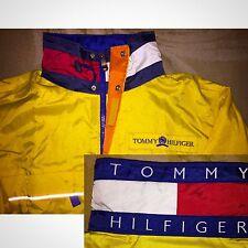 RARE Vintage Tommy Hilfiger Yellow Sailing Color Blocking FLAG Jacket Coat Large