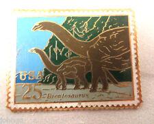 Us Post Office Postage Stamp Lapel Pin - Brontosaurus Dinosaur - 25c - #2425