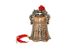 Buddha Dragon Temple Bell Wind Chime Copper Chinese Feng Shui v1