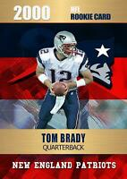 2000 TOM BRADY FIRST GOLD PLATINUM NFL FOOTBALL ROOKIE CARD NEW ENGLAND PATRIOTS