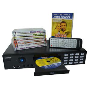 SONKEN MD-988 CD+G DVD VCD CD MP3 KARAOKE MACHINE + 84 SONGS + 2 MICROPHONES