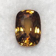 Natural 11.90 Carat Golden Brown Zircon Genuine Loose Gemstone Sri Lanka Gem
