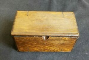 Antique 1889 Singer Wood Puzzle Sewing Box (box only)