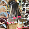 Peruvian Virgin 20/40pcs Tape in 100% Remy Human Hair Extensions Skin Weft Soft