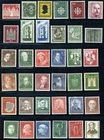 GERMANY BUNDESREPUBLIC FANTASTIC LOT OF  MINT NEVER HINGED STAMPS AS SHOWN
