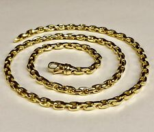 """Link Chain/Necklace 18"""" 62 grms 5.2Mm 18kt Solid Yellow Gold Handmade Rolo Cable"""