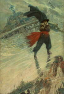 Howard Pyle The Flying Dutchman Poster Reproduction Giclee Canvas Print