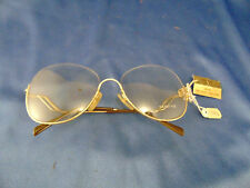 Diamonds Gem style G-32 18 kt Gp 58-16 rounded eye glasses metal frame Eg 12