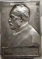 1892 FRANCE LOUIS PASTEUR Biologist Chemist ANTIQUE Roses Medal Plaque i88195