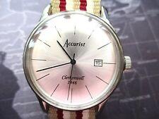 Para hombres Reloj Accurist Clerkenwell 1946, cuarto de galón, Usado,