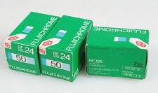 FUJICHROME 35MM ISO 50 FILM, SET OF 3, UNOPENED, AS IS