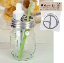 Mason Jar tin Tootbrush Holder Lid