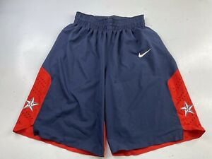Nike 2012 Olympics Team USA Basketball Team Shorts Men's Large Navy Red