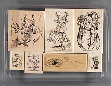 Stampin Up Best Fiends Set of Halloween Rubber Stamps Dracula Frankenstein Witch
