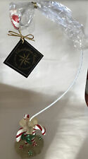 """RARE! 2000 Radko 16.5"""" CANDY CANE AND ICE ORNAMENT HOLDER STAND HARD TO FIND!"""