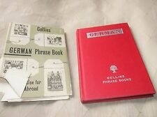 VINTAGE HB DC COLLINS GERMAN PHRASE BOOK 1963 WITH MAPS INSIDE GREAT JACKET TORN