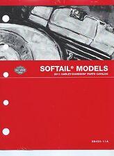 Harley-Davidson 2011 Softail Models Parts Catalog P/N 99455-11A