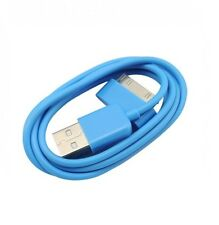 2 x Blue Fits iPod iPhone Cable USB Charger Wire 3G 3GS 4 4G 4GS Apple Touch iPa
