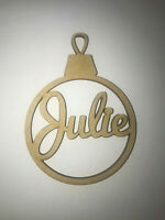 Beautiful Personalised Christmas Bauble Tree MDF Ready to Decorate