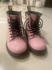 Doc Martens Pink Patten Leather Size 9 Toddler