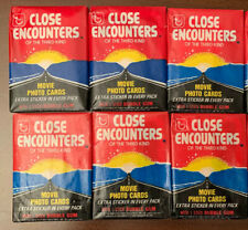 (1978)Close Encounters of The Third Kind-Wax Packs Cards/Stickers-Lot(6)Unop ened
