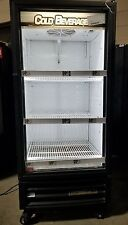True Gdm-10-Ld Black Glass Door Refrigerated Merchandiser with Led Lighting