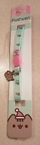 PUSHEEN fat CAT adjustable COLLAR Christmas santa GREEN candycane CHARM new NWT