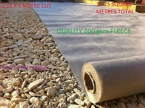 GeoTextile Membrane Soakaway Fleece Wrapping Silt Barrier Weed Prevent 2.25 x 5m