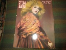 1986 Stevie Nicks Rock A Little World Tour Official Program Fleetwood Mac Vg+