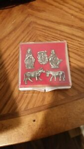 NATIVITY 5pc PEWTER FIGURES SET  ***NEW-LOWER PRICE!!***