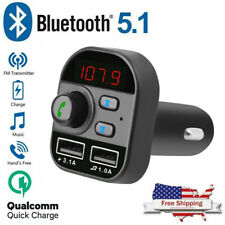 Bluetooth In-Car Wireless Adapter FM Transmitter MP3 Radio Car Kit 2 USB Charger