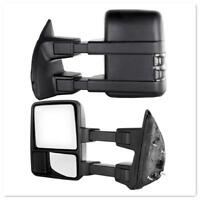 For 08-16 Ford F250-F550 Super Duty Towing Mirrors Power Heated Turn Signals