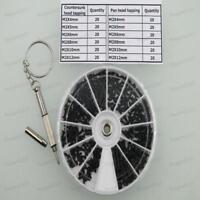 M2 black self-tapping screw cross contersunk and pan head Assortment kit 240pcs