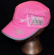 Wrangler Tough Enough to Wear Pink Military Painter Cadet Embroidered Hat Cap