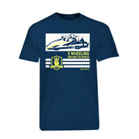 Navy Blue 3 Wheeling T-shirt Official 3 Wheeling Around the World Sidecar Racing