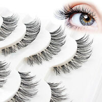 5 Pair Beauty Wispies Natural Long Thick Soft Fake False Eyelashes Handmade