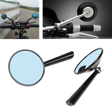 2Pcs CNC Motorcycle Chrome Rearview Side Anti-Glare Blue Mirror Adjustable Angle