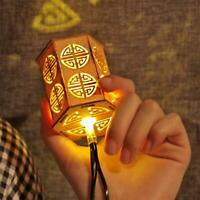 LED Chinese Style 220V Wooden Lantern String Lights for Christmas New Year Party