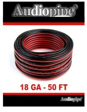 18 Gauge 50' Speaker Wire Copper Clad Red Black Zip Cable 12 Volt Low Voltage