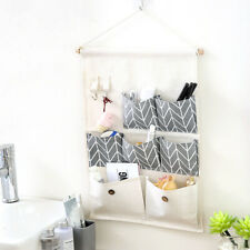 Durable 7 Pockets Wall Door Closet Home Hanging Storage Bag Linen Organizer*
