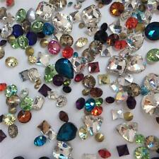 SUPER MIXED Rhinestones Crystal Glass Point back Strass Chatons Nail Art 50g U2