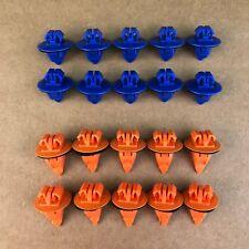 Set of 20: Orange & Blue Toyota Trim Moulding Clips 75395-35070 & 75396-35020